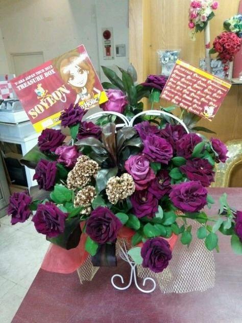 T-ARA-9月4日福岡『日本ツアー2013』で贈られた花の画像まとめ