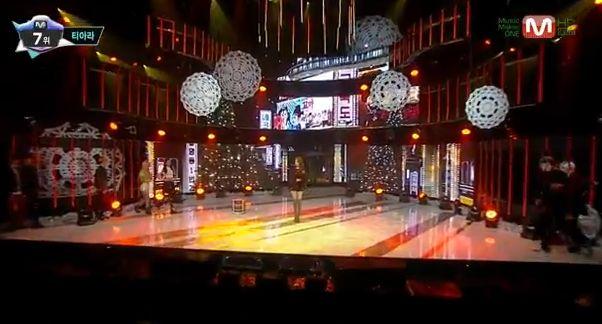 T-ARA13年12月19日『Mカウントダウン』私どうしようライブ動画