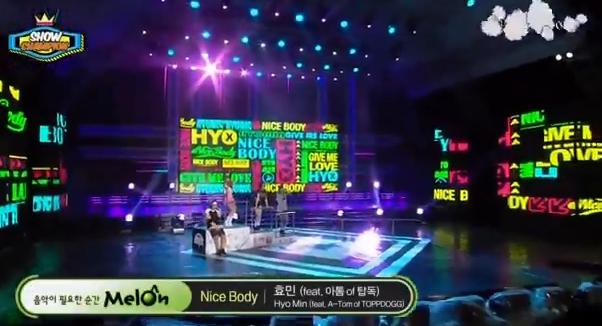 T-ARAヒョミン14年8月6日『ショーチャンピオン』NICE BODYライブ動画