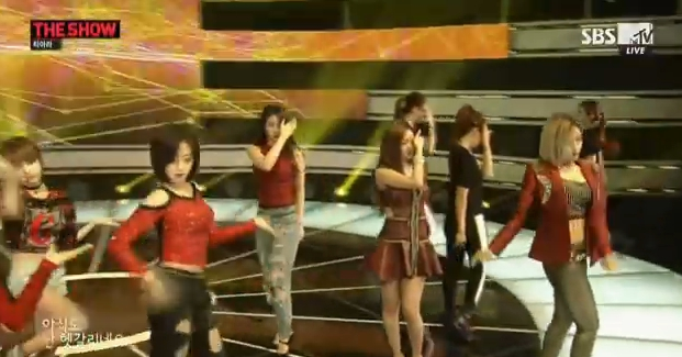 T-ARA14年9月23日『THE SHOW』SUGAR FREEライブ動画