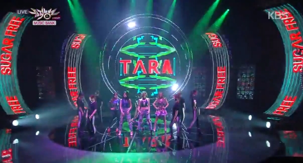 T-ARA14年09月26日『ミュージックバンク』SUGAR FREEライブ動画
