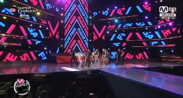 T-ARA14年10月14日『Mスーパーコンサート』SUGAR FREEライブ動画
